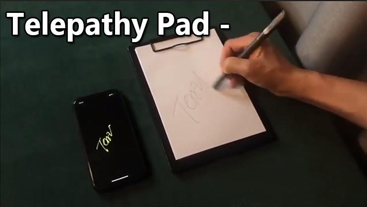 Ce qui est écrit sur le pad est retransmis sur le Téléphone Telepathy Pad de JL Magic