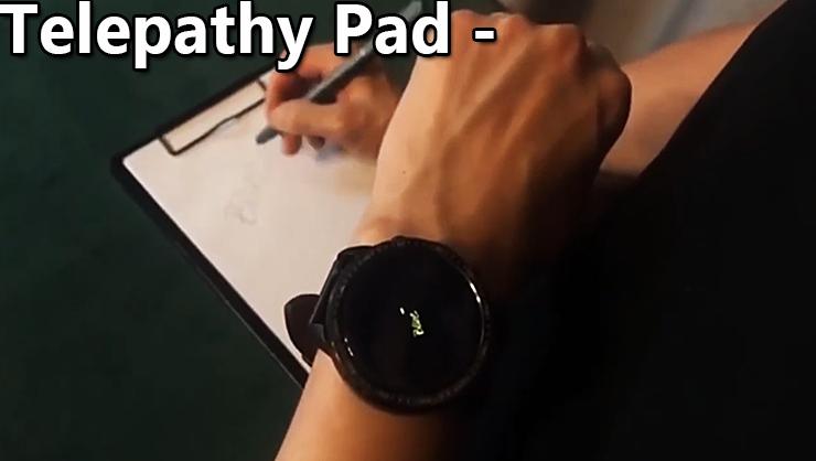 Ce qui est écrit sur le pad s'écrit sur la montre du tour Telepathy Pad de JL Magic