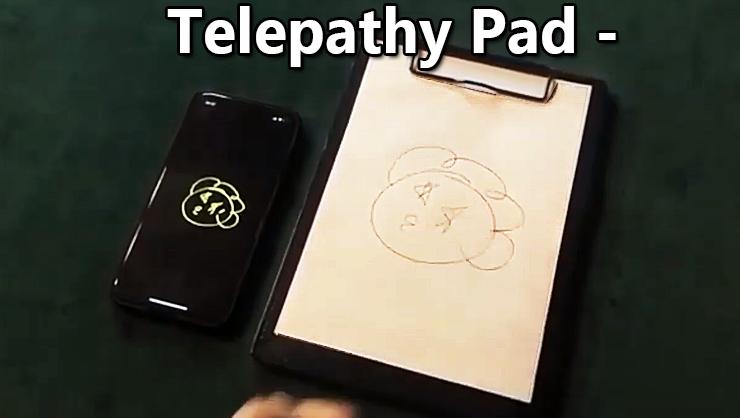 l'écriture est identique sur le téléphone et le pad du tour Telepathy Pad De JL Magic