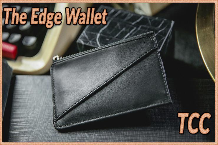 Voici le dosporte feuille du tour  The edge Wallet Black de TCC