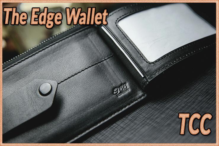 La carte apparait dans une fenettre interrieur de The edge Wallet Black de TCC