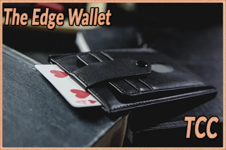 gros plan sur le gimmick de The edge Wallet Black de TCC