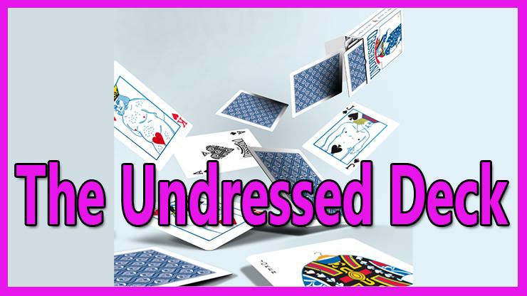 les cartes tombent en cascade sur la table c'est le Jeu de carte The Undressed Deck De Edi Rudo