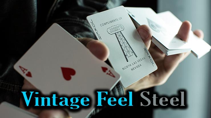 as de coeur et joker du jeu Vintage Feel Jerrys Nuggets Steel argent
