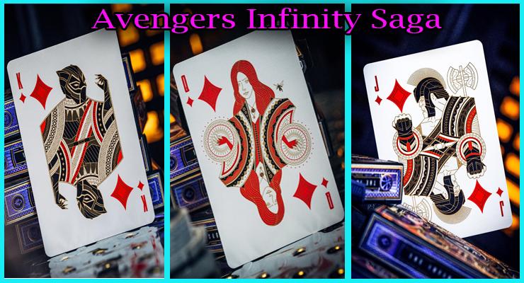 black panthere sorciere rouge et le mechant Thanos Rex du Jeu De Cartes Avengers - Infinity Saga