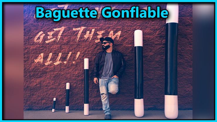 voici les 5 baguettes cotes a cotes elles ont differentes taille, elles s'appelle Baguette Magique Gonflable 5 Tailles