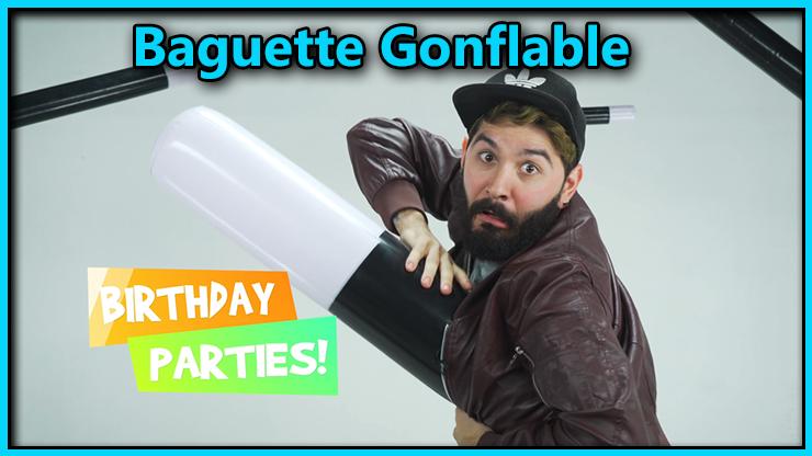 le magicien sort de sa veste une grosse baguette du tour Baguette Magique Gonflable 5 Tailles