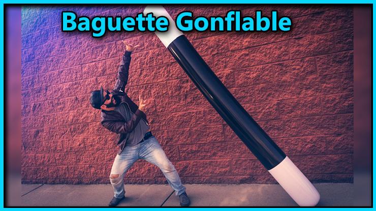 le magicien attrape une grosse baguette du tour Baguette Magique Gonflable 5 Tailles