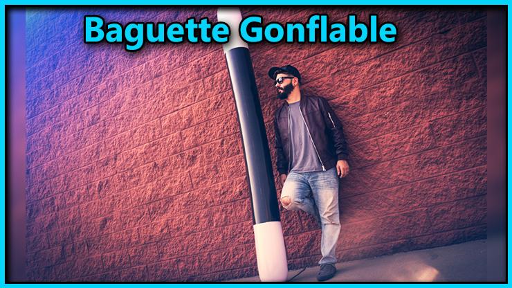 le magicien se place à coté de la baguette de 240 cm c'est le tour Baguette Magique Gonflable 5 Tailles