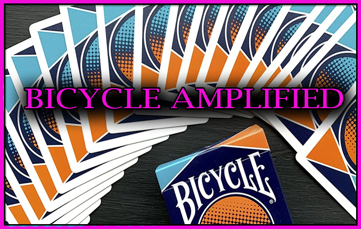 voici le dos des cartes colorées du jeu Bicycle Amplified