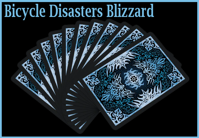 voici le dos en éventail du jeu Bicycle Natural disasters Blizzard