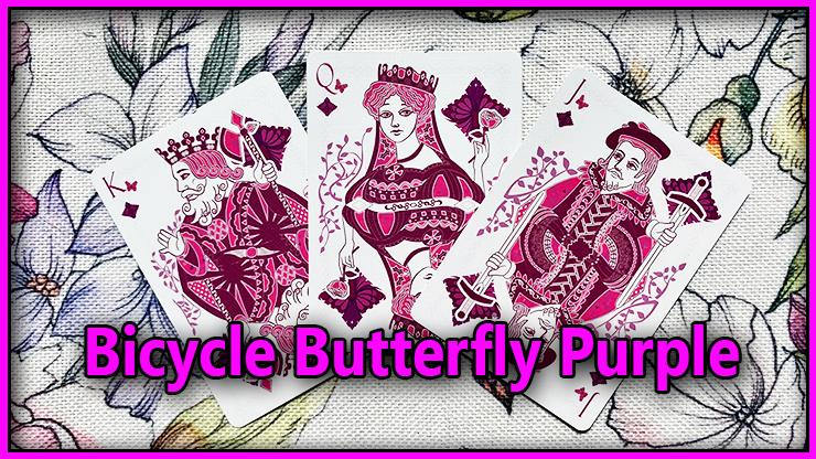 le roi la dame et le valet de carreau du Jeu De Carte Bicycle Butterfly Purple