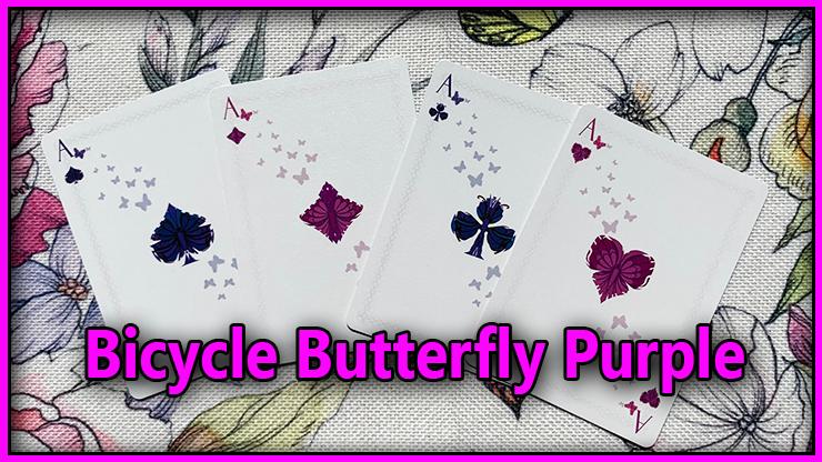 le carré d'as du Jeu De Carte Bicycle Butterfly Purple