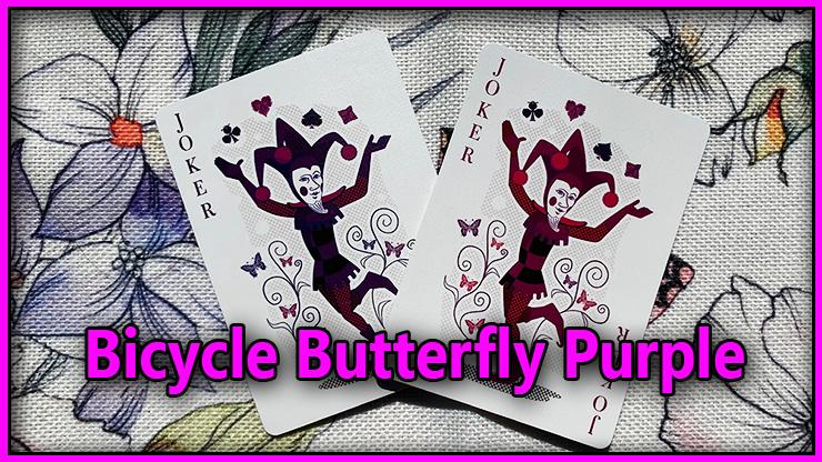 voici le dos de couleur rose violet du Jeu De Carte Bicycle Butterfly Purple
