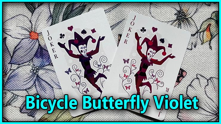 voici les deux magnifiques joker du Jeu De Carte Bicycle Butterfly Purple