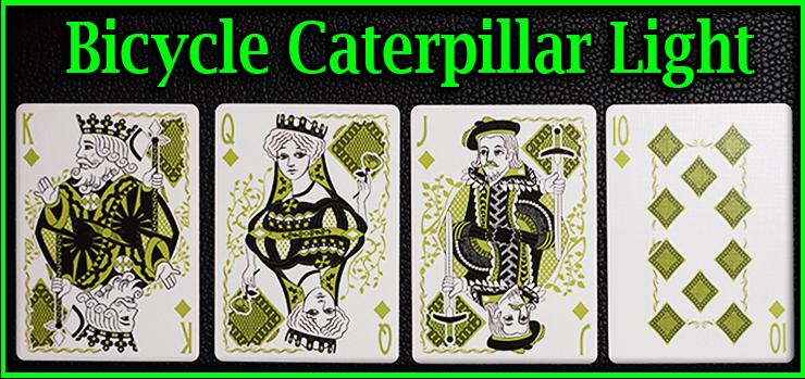 Voici les 4 cartes une à côté de l'autre se sont la quinte flush a carreau jeu de Carte Bicycle Caterpillar Light