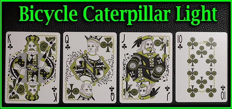voici la quinte flush a tréfle le roi la dame le valet et le dix jeu de Carte Bicycle Caterpillar Light