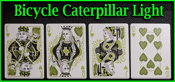 voici la quinte flush a coeur le roi la dame le valet et le dix jeu de Carte Bicycle Caterpillar Light