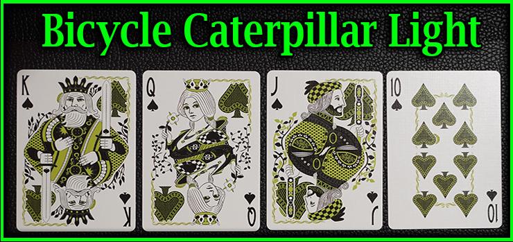 voici la quinte flush a pique le roi la dame le valet et le dix jeu de Carte Bicycle Caterpillar Light