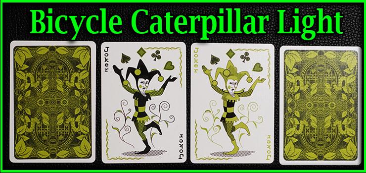 les deux joker a bordure blanche avec deux carte vue de dos du jeu de carte bicycle caterpillar light=