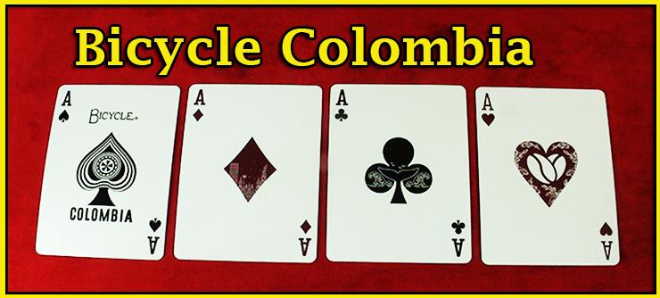 voici le carre d'as du jeu jeu de carte Bicycle Colombia