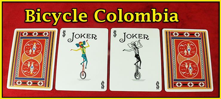 deux joker de deux couleur differentes et de carte vu de dos du jeu de carte Bicycle Colombia