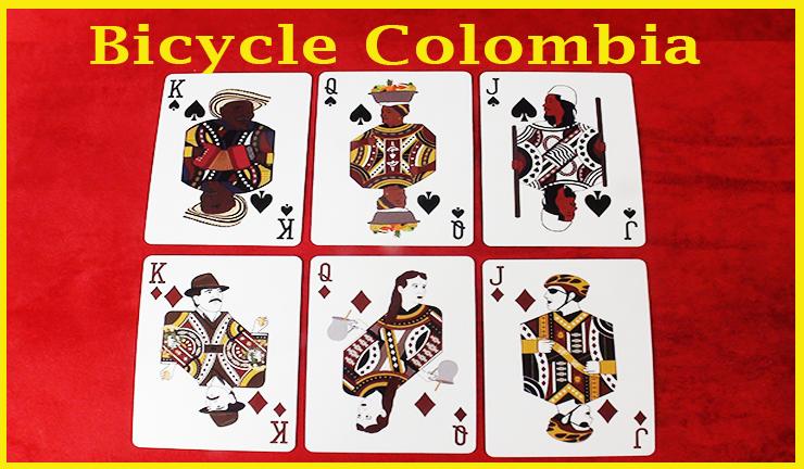 un roi un dame un valet de pique avec un roi une dame et un valet de carreau du jeu de carte Bicycle Colombia