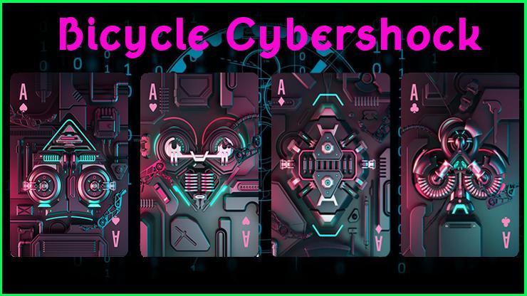 la série des quatre as du Jeu De Carte Le Bicycle Cybershock