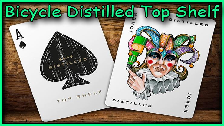 gros plan du joker et de l'as de pique du jeu Bicycle Distilled Top Shelf