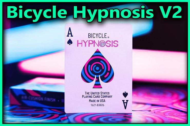 gros plan sur l'as de pique vu de face du Jeu De Carte Bicycle Hypnosis V2