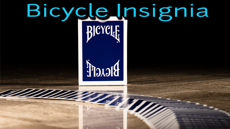 gros plan du bicycle insignia back bleu avec ses cartes