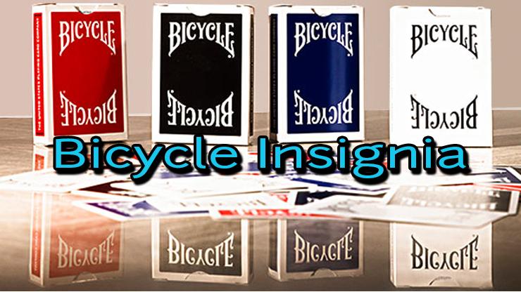 4 jeu de carte bicycle insignia back bleu,rouge,noir et blanc
