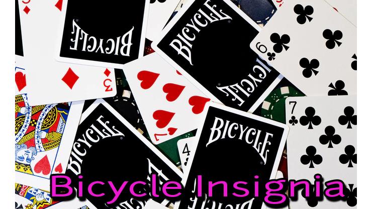 le dos et les face du jeu bicycle insignia back noir