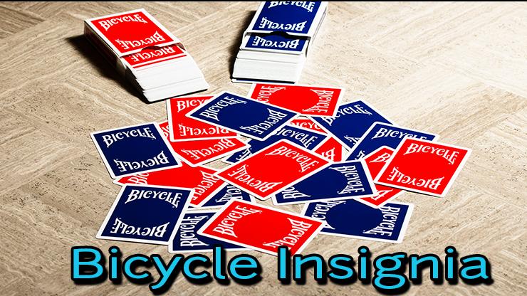 2 jeu de carte bicycle insignia bleu et rouge