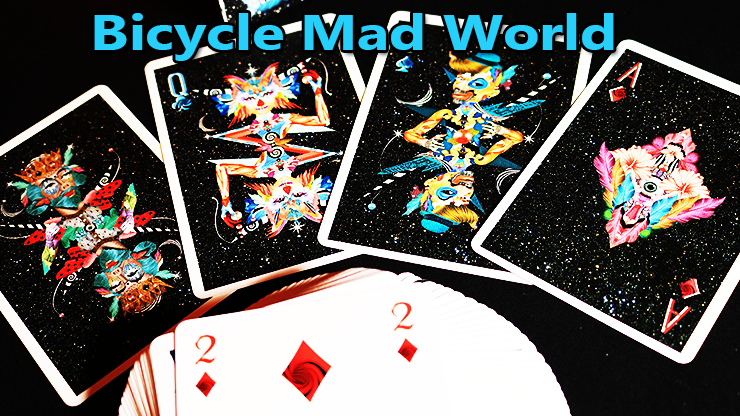 voici le carré de dame du jeu Bicycle Mad World