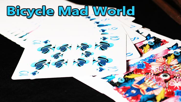 voici la série a trèfle tout en bleu du jeu Bicycle Mad World