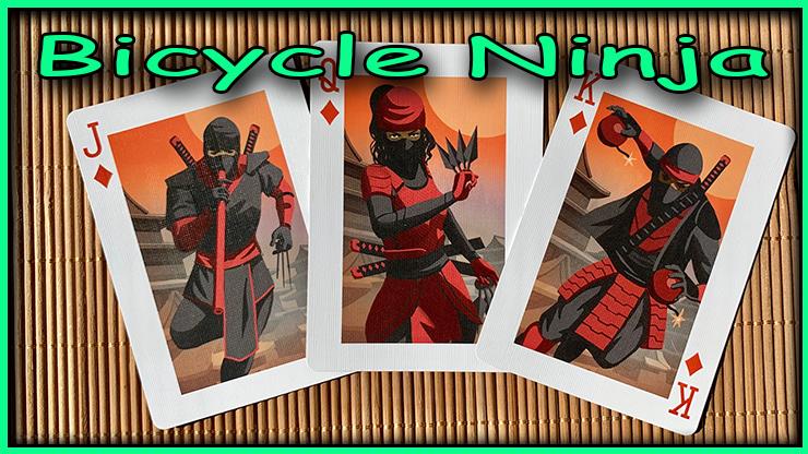 le vallet la dame et le roi de carreau de couleur orange du jeu bicycle ninja