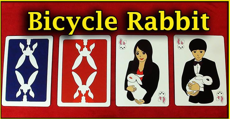 un dos bleu un dos rouge et les deux jokers du jeu Bicycle Rabbit