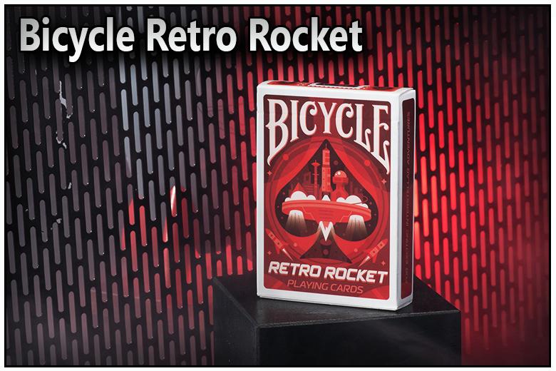 Présentation de la boite du jeu de carte bicycle retro rocket