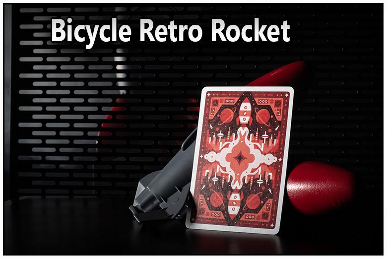 juste une carte vu de dos du jeu bicycle retro rocket vue de face et vu de dos