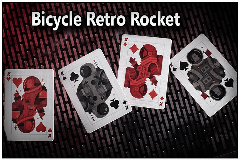 voici le carre de roi le pique le coeur le carreau et le trefle du jeu bicycle retro rocket vue de face et vu de dos