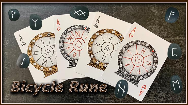 voici le carré d'as du jeu de carte bicycle rune