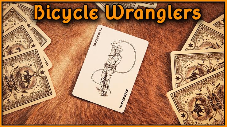 le magnifique joker c'est un cowboy avec un lasso du jeu bicycle wranglers marqué