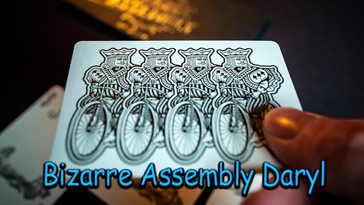 une carte avec 4 jokers imprimés dessus du tour bizarre Assembly daryl