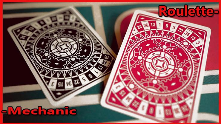 2 carte gaff une a dos noir l'autre a dos rouge du Jeu de Carte Roulette De Mechanic Industries.