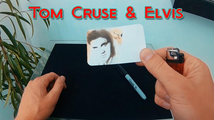 apparition de elvis sur la carte de visite de Celebrity Scorch - Tom Cruse & Elvis