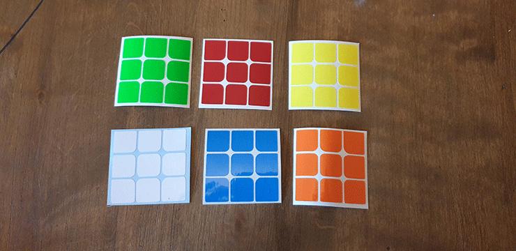 voici les Stickers pour la coquille de rukik shell