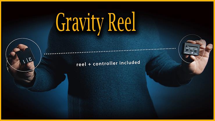 fil d'un côte et telecommande de l'autre les deux esemble forment le Tour Gravity Reel De Joao Miranda