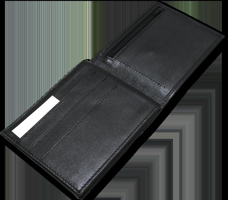 voici le portefeuille ouvert de l'autre côté