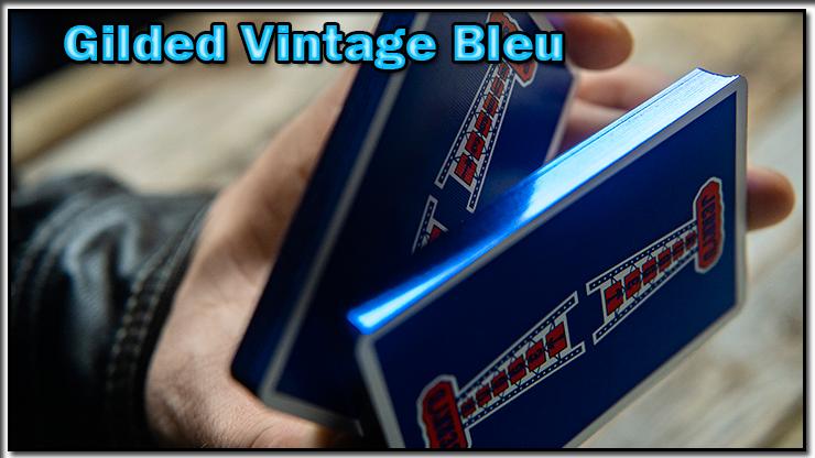 le magicien coupe le jeu en deux du jeu Vintage Feel Jerry's Nuggets Gilded Bleu.
